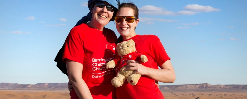 Mother and Daughter trek for charity