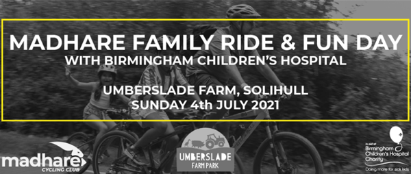 Madhare Family Ride & Fun Day - 4 July