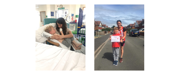 Marathon Mum runs after son's brain surgery