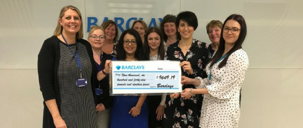 Barclays One fundraise for our charity